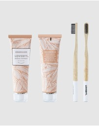 LOVEBYT - Cinnamon & Clove Toothpaste & Toothbrush Pack