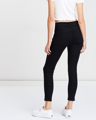 Cotton On Mid Rise Cropped Skinny Jean - Crop (Black)