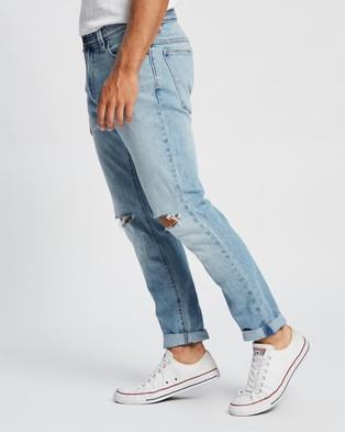 Abrand A Dropped Slim Turn Up Jeans - Slim (Run Off Unpatched Rips)