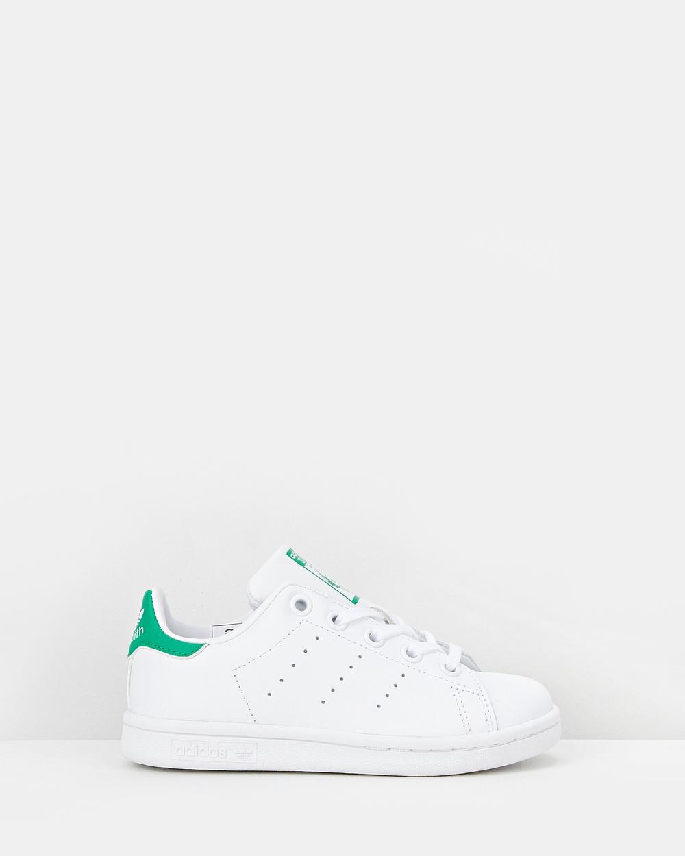 adidas Originals Stan Smith Pre School Lifestyle Shoes White/Green