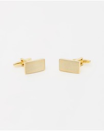 Buckle - Brushed Gold-Tone Cufflinks