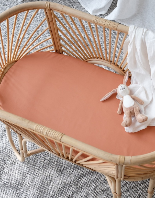 Life 100% Organic Bamboo Bassinet Sheets - Fitted
