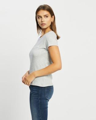 Calvin Klein - Core Institutional Logo Slim T Shirt Short Sleeve T-Shirts (LIGHT GREY HEATHER) T-Shirt