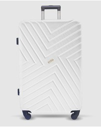 JETT BLACK - Alpine Maze Series Large Suitcase