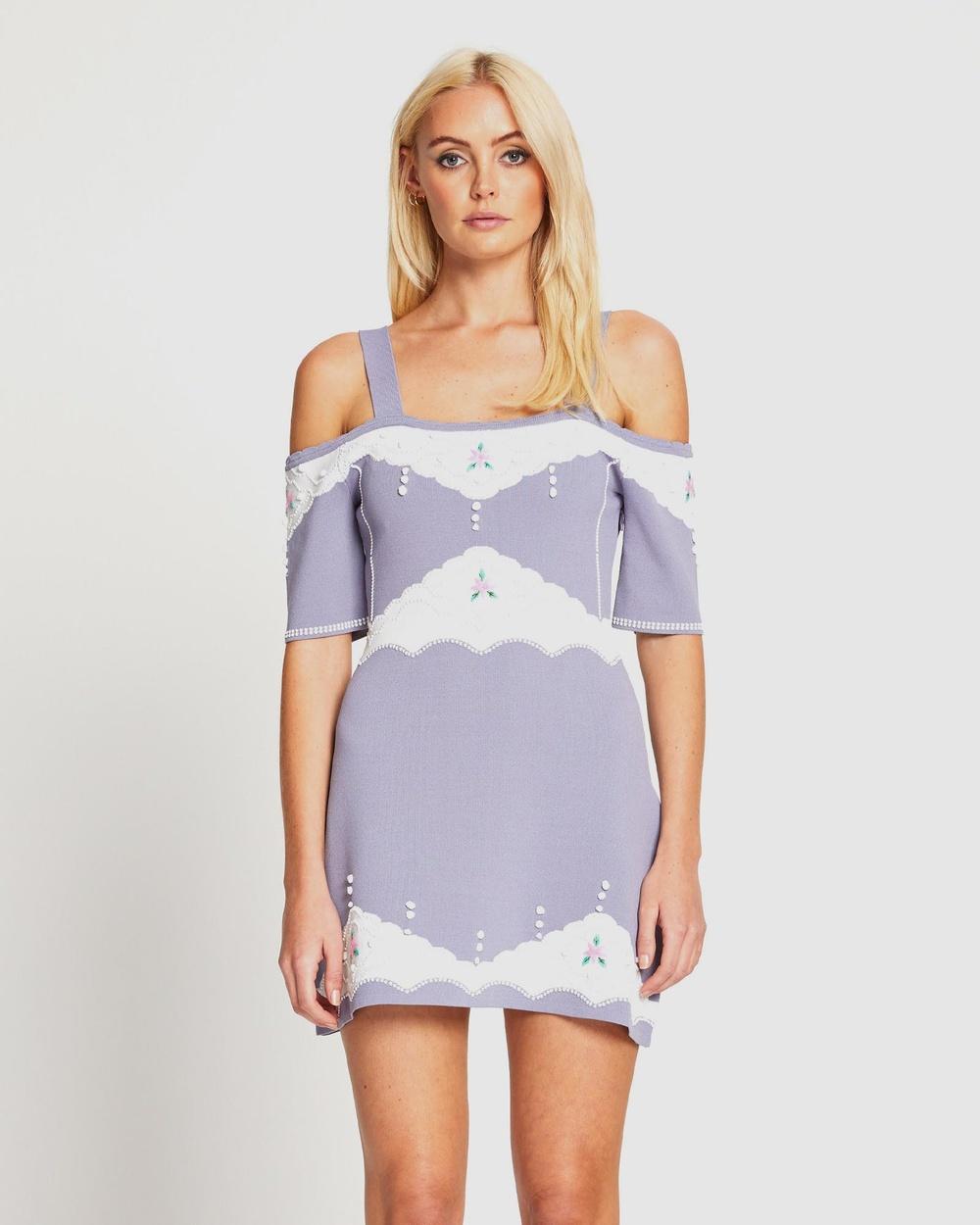 alice McCALL Come Over Mini Dress Dresses Slate