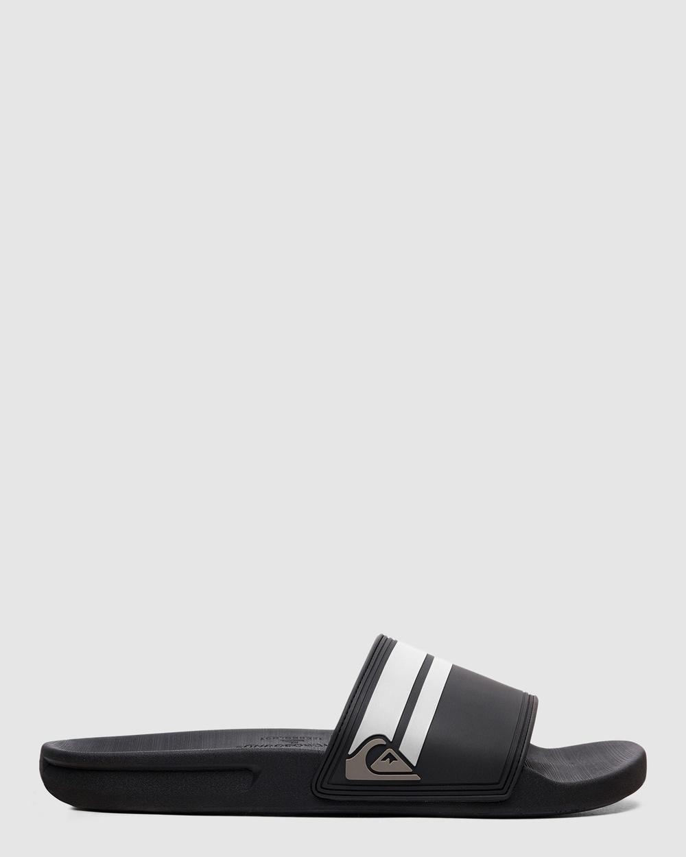 Quiksilver Mens Rivi Slide Slider Sandals Slides Black/Black/White
