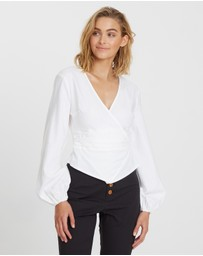 The Fated - Kelsey Ruched Blouse