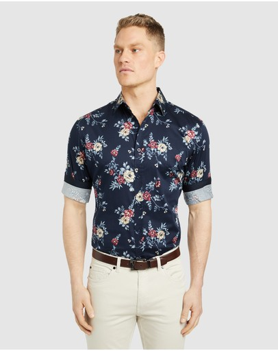 Tarocash - Halpin Slim Stretch Floral  Shirt
