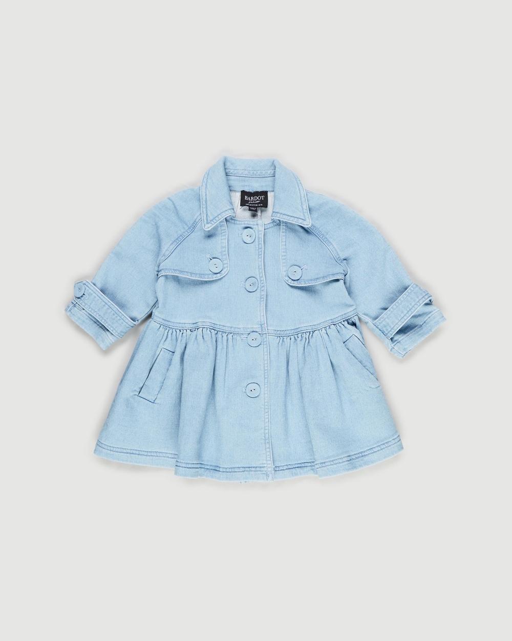 Bardot Junior Denim Mia Trench Babies jacket Vintage Blue Australia