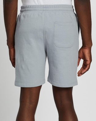 AERE Organic Sweat Shorts Blue