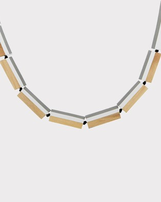 Florence Broadhurst Turnabouts Spliced Adjustable Necklace - Jewellery (Black/White)