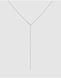 Elli Jewelry - Necklace Y-Chain Figaro Basic Trend Adjustable 925 Silver