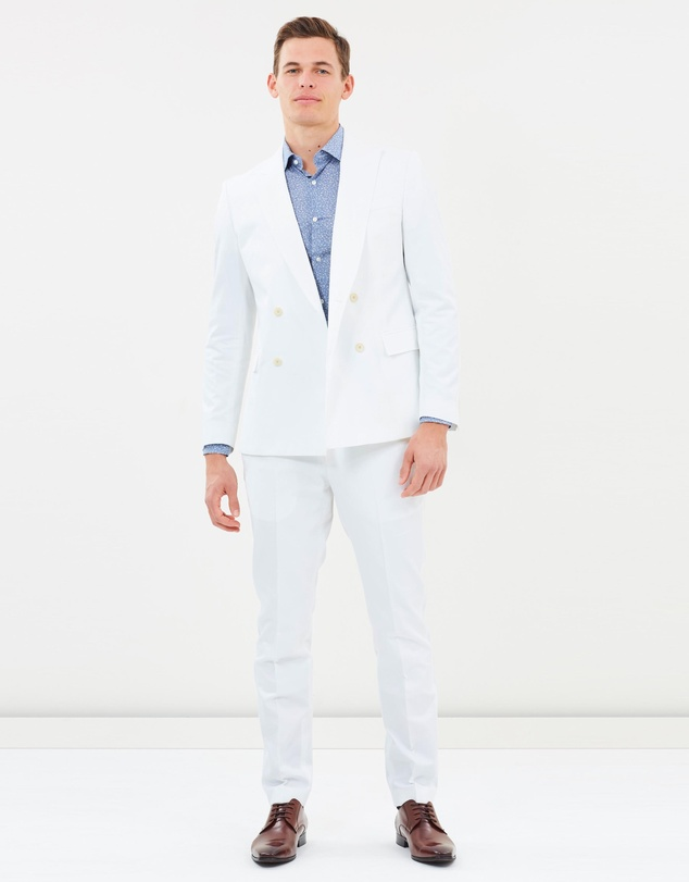 BOSS - Italian Cotton Double-Breasted Suit