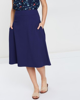 Privilege A Line Skirt - Pleated skirts (Navy)