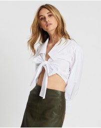 Ivory & Chain - Cabo Crop Shirt