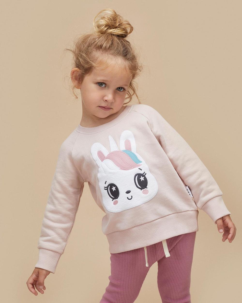 Huxbaby ICONIC EXCLUSIVE Unicorn Sweatshirt Babies Kids Sweats Rose Babies-Kids
