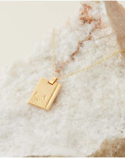 Reliquia Jewellery - Cancer 18ct Gold Filled Star Sign Necklace