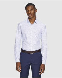 Yd. - Webston Stripe Slim Fit Dress Shirt