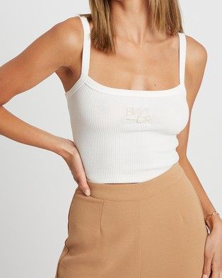 BWLDR Cora Cropped Tank - Cropped tops (White)