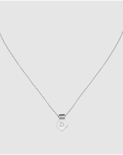 Ca Jewellery Letter D Pendant Necklace Silver