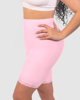 B Free Intimate Apparel Curvy Anti Chafing Cotton Shorts - Sleepwear & Loungewear (Lilac Snow)