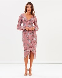 Cooper St - Fiorella Long Sleeve Drape Dress
