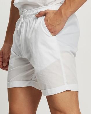 Merlino Street Cotton Pull On Shorts Chino White Pull-On