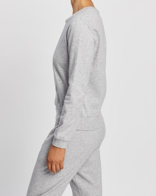Atmos&Here Sofia Sweat Top - Sweats (Grey Marl)