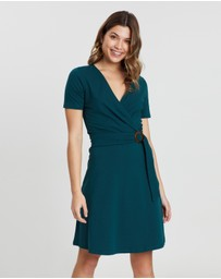 Dorothy Perkins - Buckle Fit-and-Flare Dress