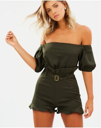 Atmos&Here - Tasha Off-Shoulder Playsuit