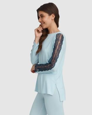Oh!Zuza Lace Trim Pyjama Set - Two-piece sets (Blue)