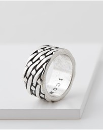 Icon Brand - Woven Textured Ring Band