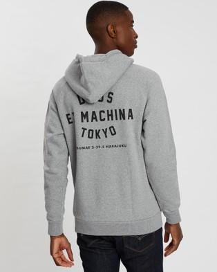 Deus Ex Machina Tokyo Address Hoodie - Hoodies (Grey Marle)