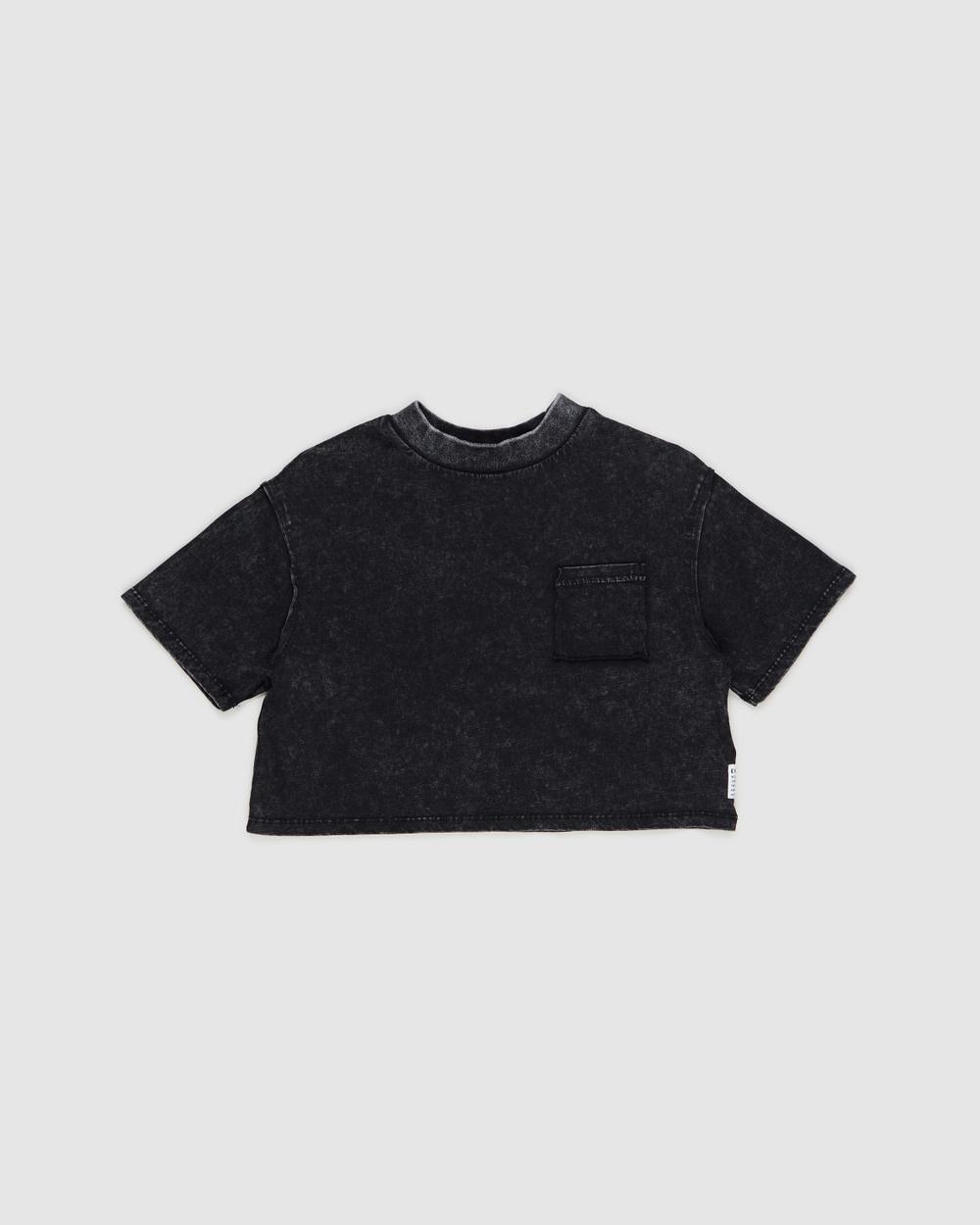 Eve Girl Hadley Pocket Tee Kids Teens T-Shirts & Singlets Washed Black Kids-Teens Australia
