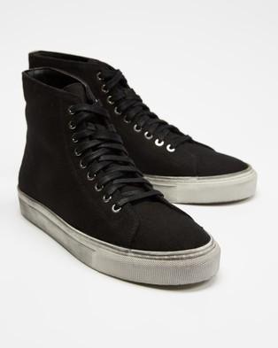 Locale Bronx Canvas High Top Sneakers - Sneakers (Paint Splash Black)