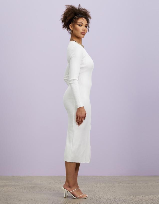Women Crew Neck Midaxi Dress