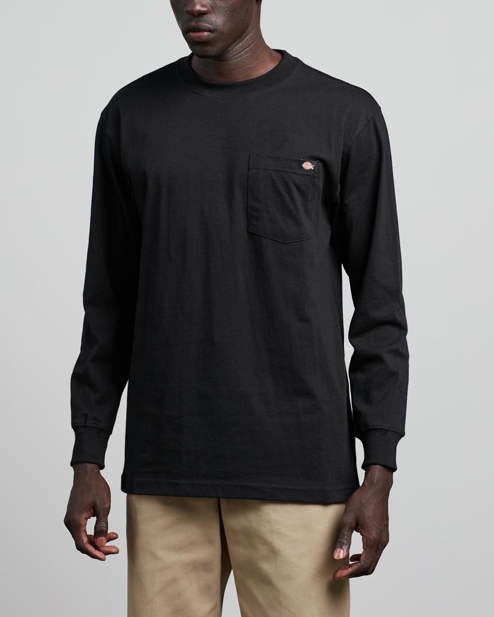 Dickies - Heavy Long Sleeve Tee - T-Shirts & Singlets (Black) Heavy Long Sleeve Tee