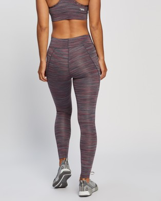 Running Bare Ab Waisted Flex Zone Full Length Tights - Full Tights (Shiraz Space Dye)