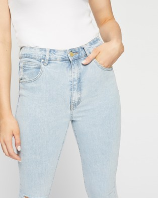 Cotton On High Rise Cropped Skinny Jeans Crop Addis Blue Rip High-Rise
