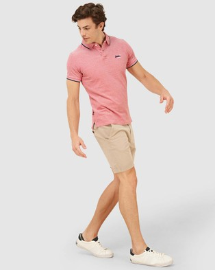 Superdry Poolside Pique Polo - T-Shirts & Singlets (Coral)