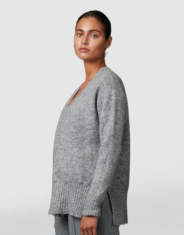 Women Angle Oversized Knit Jumper
