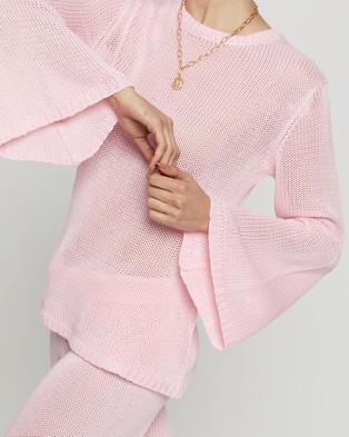 Dazie Girl Crush Knit Jumper - Jumpers & Cardigans (Pink)