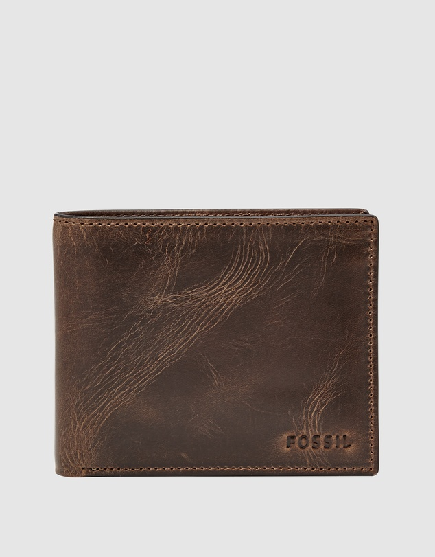 Fossil - Derrick Dark Brown Bifold Wallet