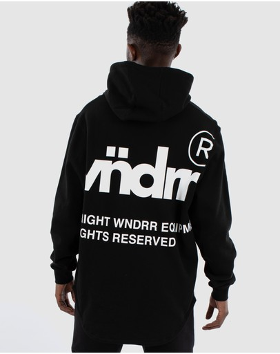 WNDRR - Offcut Curved Hem Hood Sweat