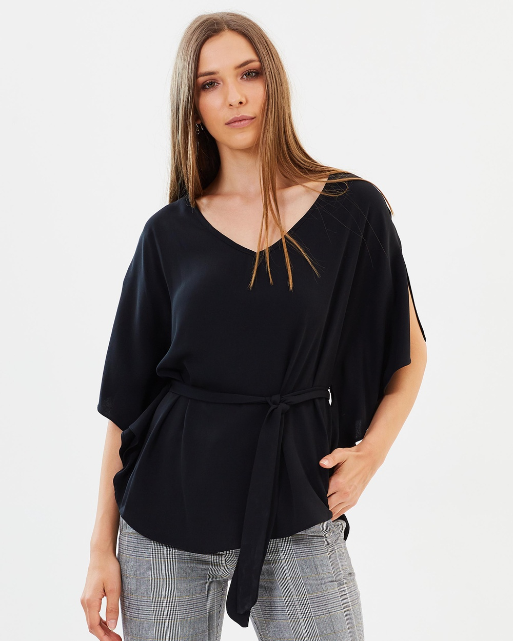 Dorothy Perkins Cape Top Tops Black Cape Top