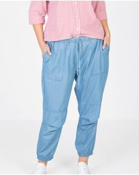 Love Your Wardrobe - Chambray Soft Cargo Pants