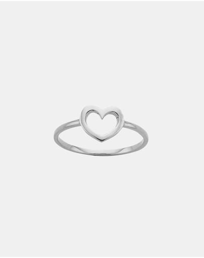 Karen Walker Mini Heart Ring Sterling Silver