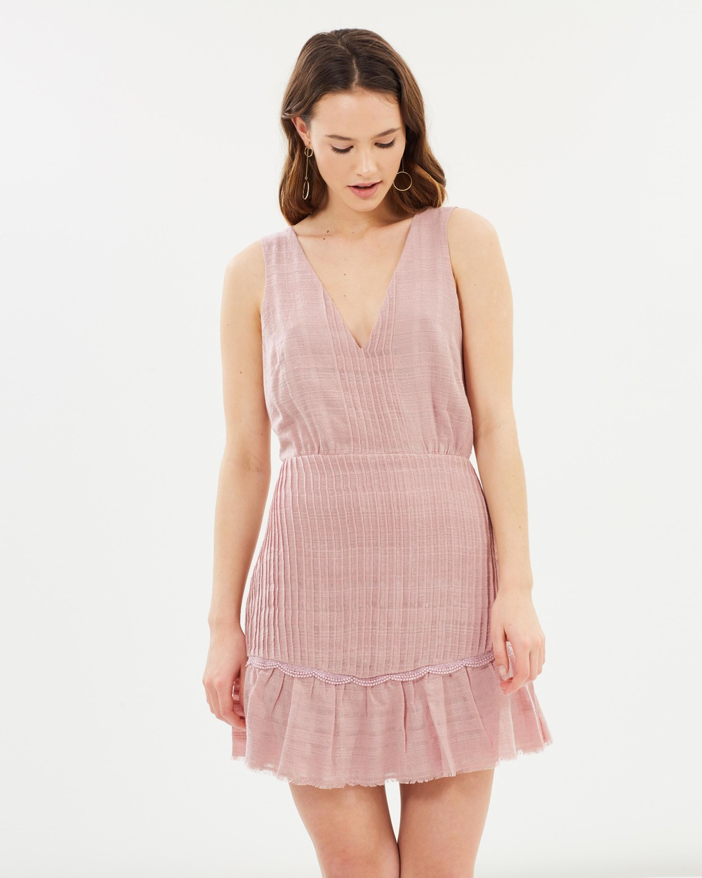 Stevie May Oleander Mini Dress Dresses Shell Pink Oleander Mini Dress