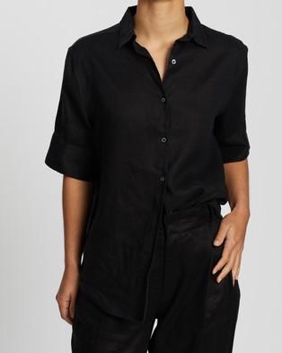 Assembly Label Women's Short Sleeve Shirt - Tops (Black)