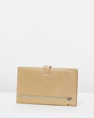 Loop Leather Co Travel Clutch and Luggage Soft Gold